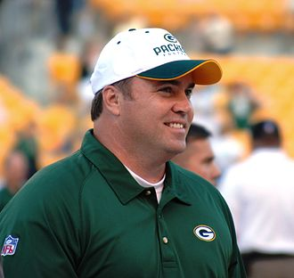 Former Super Bowl winning Packers head coach Mike McCarthy Mike McCarthy (TJG).JPG