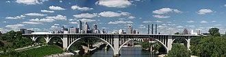10th Avenue Bridge - Panorama of the 10th Avenue Bridge, looking northwest