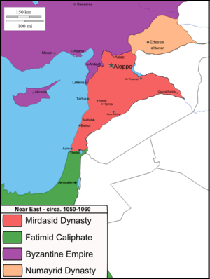 Mirdasid dynasty - The Mirdasid Dynasty and its neighbors in ca. 1050/1060.