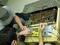 Modular synthesizer & Bentley's Rhythm Ace FR-2L, London Music Hack Sapce.jpg