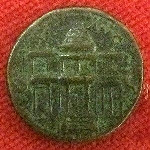 Macellum - Roman coin perhaps depicting the Macellum Magnum