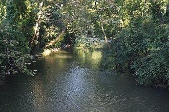 Monocacy Creek (Lehigh River tributary) - Image: Monocacy Creek in Bethlehem, PA