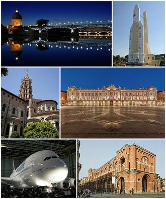 Toulouse - Hôpital de La Grave, Ariane 5 (Cité de l'espace), Basilica of Saint-Sernin, Place du Capitole, the very first Airbus A380, Musée des Augustins