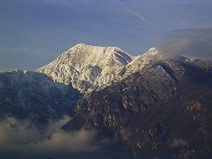 Monte Bondone - Monte Bondone seen from Povo.