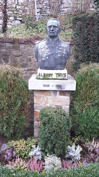 Bust of General Albert Thys (1849-1915) in Dahlem (Belgium), its birthplace. He was one of the main collaborators of King Leopold II in the Congo.