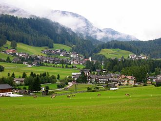 Passeier Valley - A view of the comune of Moos in Passeier in the valley