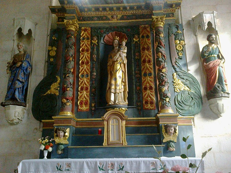 Morbihan Locmine Chapelle Congregation Retable 24102013