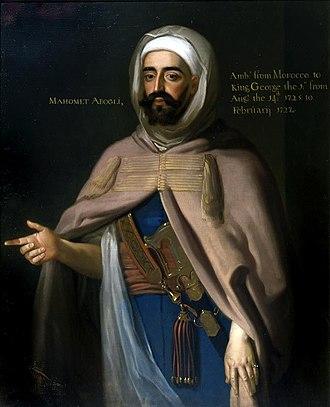 Mohammed Ben Ali Abgali - Portrait of Mohammed Ben Ali Abgali in 1725