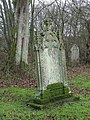 Mossy grave headstone in St Cuthbert's churchyard - geograph.org.uk - 627175.jpg