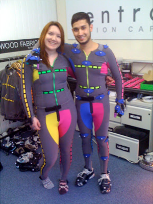 Motion capture - Motion capture performers from Buckinghamshire New University