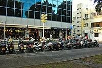 Motorcycles at Caffe on Rothschild Boulevard.jpg