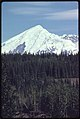 Mount Drum (Elevation 12,002 Feet) Seen From Copper Center Looking East. The 500 Mm Lens Shows the Dormant Volcano Rising Above the White Spruce Forest That Is Typical of Many Locations in the Area...08-1974 (3972081326).jpg