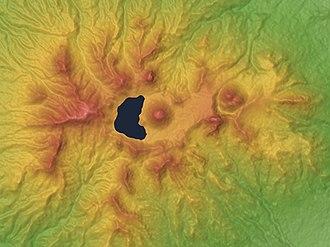 Mount Haruna - Image: Mount Haruna Mountaintop Relief Map, SRTM 1, Unmarked
