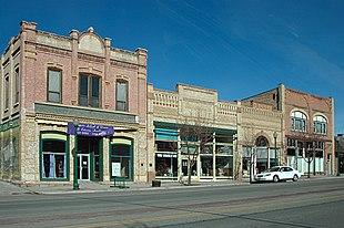 Historic buildings on Mount Pleasant's Main Street