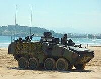 Mowag Piranha de la Infantería de Marina Española.JPG