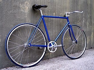 Fixed-gear bicycle - A fixed-gear bicycle
