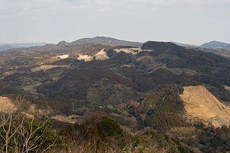 Mount Atago (Minamibōsō, Chiba) - View of Mount Atago from Mount Iyogatake, Minamibōsō, Chiba