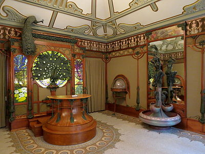 The Jewellery Shop Of Georges Fouquet At 6 Rue Royale, Paris, Designed By  Alphonse Mucha, Now In The Carnavalet Museum (1901)
