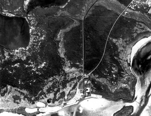 Mud Lake Canal - Aerial photo showing the canal route, 1984