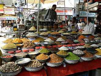 Manek Chowk (Ahmedabad) - The variety of mouth fresheners, Mukhwas, being sold near Manek Chowk