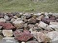 Multi coloured boulder sea defences at Aberdaron - geograph.org.uk - 62539.jpg