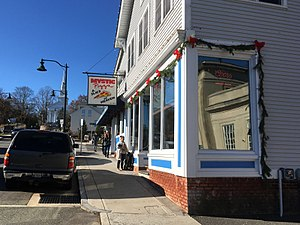 Mystic Pizza - The Mystic Pizza restaurant in downtown Mystic.