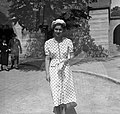 Női portré, Jézus szíve plébániatemplom. Fortepan 55897.jpg