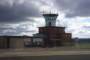 HMAS Albatross (air station) - The control tower at NAS Nowra photographed in early 2003, shortly before it was demolished and replaced by another tower, just visible in the background.