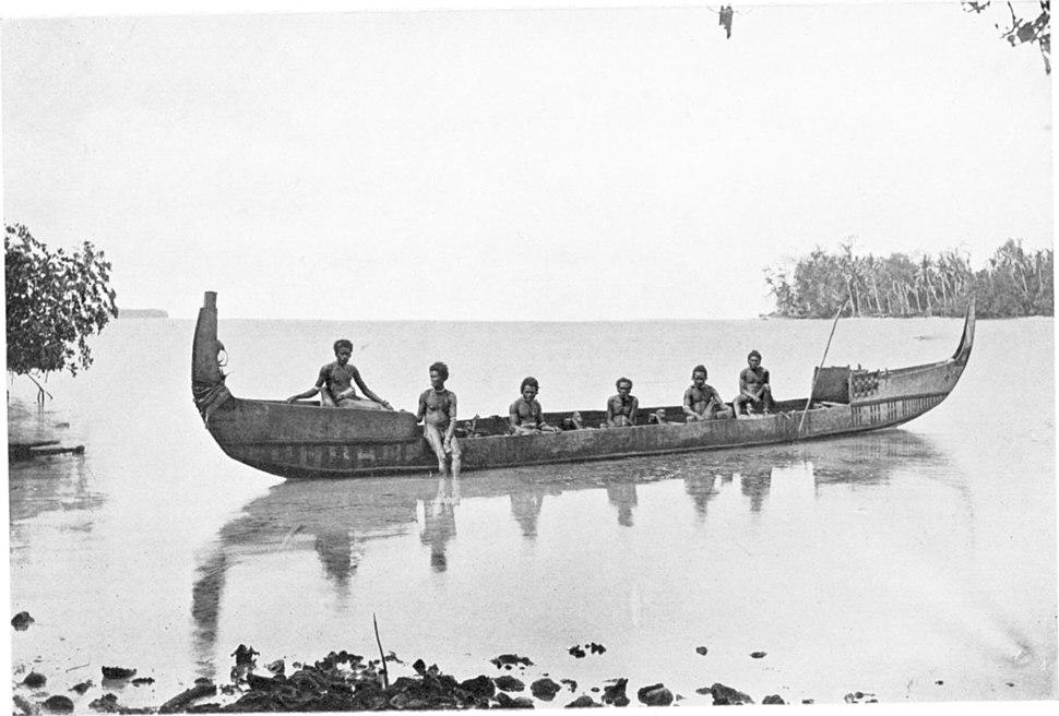 NATIVE CANOE, MARAU SOUND, SOLOMON ISLANDS