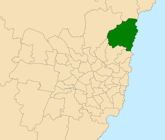 Electoral district of Pittwater - Location within Sydney