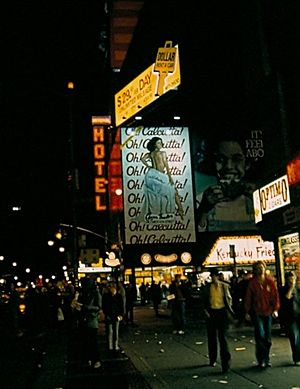 Oh! Calcutta! - Billboard on Broadway in 1981