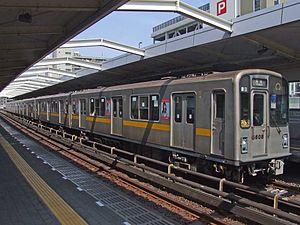 Nagoya Municipal Subway 5000 series - Set 5108 in April 2008