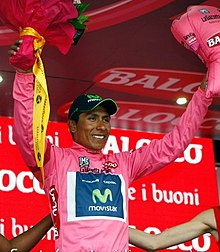 Quintana in maglia rosa al Giro d'Italia 2014