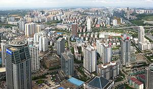 Blick vom höchsten Gebäude der Stadt