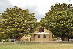 Napoleons, Victoria - The historic Black Lead church, now home to Napoleons District Historical Society