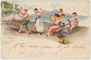 Napoli, tarantella 1903 (Naples, tarantella 1903)