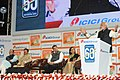 Narendra Modi addressing after dedication of the Digital Village Akodara, Sabarkantha District, Gujarat, to the nation, at the 60 years celebration of ICICI Group, in Mumbai. The Union Minister for Finance.jpg