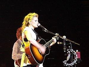 "Natalie Maines - Maines performing with the Dixie Chicks during their ""Accidents & Accusations Tour"" December 4, 2006"