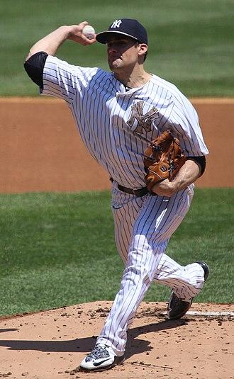 2015 New York Yankees season - Nathan Eovaldi pitching on May 25, 2015.