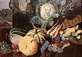 Nathaniel bacon, cuoca con natura morta di verdura e frutta, 1620-25 ca. 06 zucche.jpg