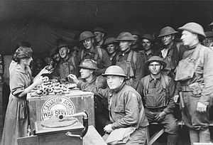 National Doughnut Day - Salvation Army volunteers traveled overseas to set up service huts located in abandoned buildings near the front lines where they could serve baked goods