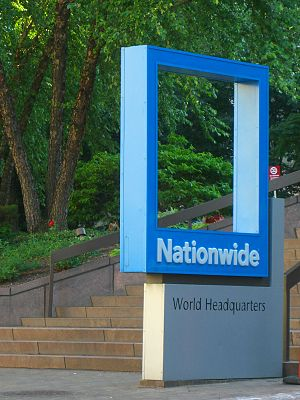 Nationwide Mutual Insurance Company - Nationwide sign outside of One Nationwide Plaza.