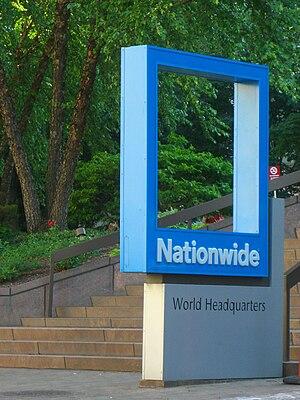 Nationwide Mutual Insurance Company - Nationwide sign outside of One Nationwide Plaza.