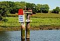Navigation marker, River Bann near Coleraine - geograph.org.uk - 1912736.jpg