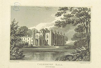 Coleorton Hall - Coleorton Hall, Leicestershire; illustration from Views of the Seats of Noblemen and Gentlemen in England, Wales, Scotland and Ireland by John Preston Neale