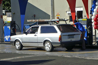 History of ethanol fuel in Brazil - Image: Neat ethanol car Piracicaba 05 2009 5664