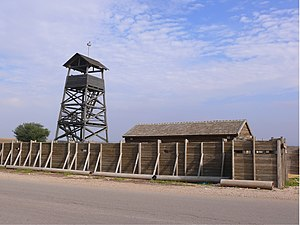 Wall and tower - Reconstruction of tower and stockade in Kibbutz Negba
