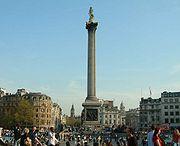 A Coluna de Nelson, Trafalgar Square, Londres.