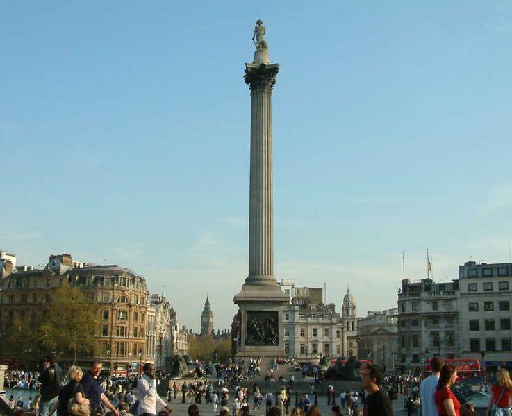 File:Nelson's Column Looking Towards Westminster - Trafalgar Square - London - 240404.jpg