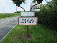Neuville-sur-Escaut - Panneau d'entrée.JPG